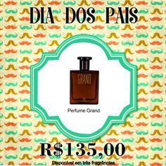 Presente para o Dia dos Pais.  Perfume Grand. Compre através do link! Perfume, Link, Frame, Home Decor, Gifts, Picture Frame, Decoration Home, Room Decor, Frames