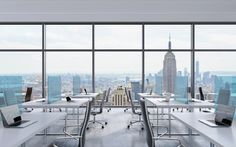 NO-INFECTION BARRIERS AND PROTECTION SCREEN Commercial Interior Design, Interior Design Tips, Commercial Interiors, Black Leather Chair, Leather Chairs, 3d Rendering, Workplace, New York City, Windows