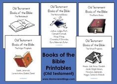 Downloadable Bible Printables of the Old Testament by division and also books of the OT copywork.