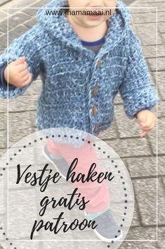 Crochet kids cardigan, hooded jacket, free patterned kids cardigan Source by annegerdi Crochet For Boys, Diy Crochet, Crochet Hooks, Crochet Baby, Crotchet, Baby Knitting Patterns, Crochet Patterns, Free Knitting, Baby Pop