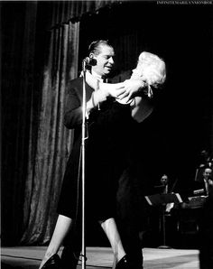 Marilyn Monroe and Milton Berle, 1955.