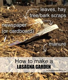 Lasagna Gardening   Gardening By The Layers | Save Landscaping Ideas |  Pinterest | Gardens, Organic Matter And Landscaping Ideas