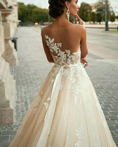 Milla Nova Gorgeous. Love the detail put into this dress. get it at Melange Bridal! melangebridal.com