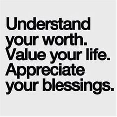 ... appreciate your blessings