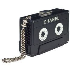 CHANEL CASSETTE TAPE CLUTCH ❤ liked on Polyvore