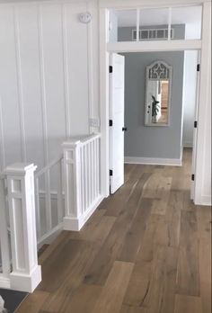 Banister Makeover Banisters, Stair Railing, Stairs, Floors, Garage Doors, New Homes, Outdoor Decor, Home Decor, Home