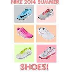 """NIKE 2014 Summer Shoes!"" by tennisexpress #nike #tennisshoes #endlesstennis"