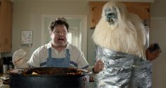 Wheat Thins Chili commercial with the Abominable Snowman. Also in the Night Vision commercial. From the agency Being New York