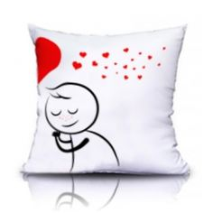 Cojín: El. San Valentín Valentine Day Love, Valentines, Maria Jose, Cushions, Pillows, Just Married, Fabric Painting, Cushion Covers, Hello Kitty