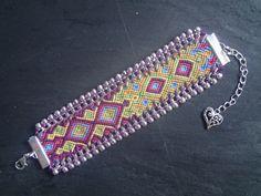 bracelet brésilien modèle Machu Picchu : Bracelet par purple-art