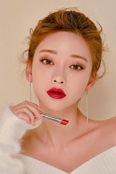 Beige Wear Fit Narcissus - I know you wanna kiss me. Thank you for visiting CHUU. Asian Makeup, Korean Makeup, Beauty Makeup, Hair Beauty, Makeup 101, Beauty Nails, Beauty Hacks Video, Natural Cosmetics, Beauty Blender