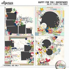 Happy For You | Quickpages by Akizo Designs - For Digital Scrapbooking Layout