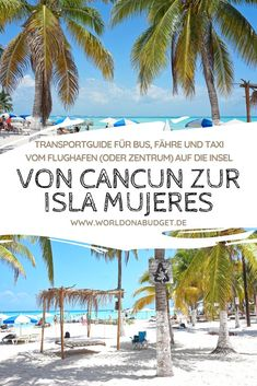 From Cancun to Isla Mujeres – complete guide for the cheap arrival - Travel Plans Cozumel Mexico, Mexico Vacation, Mexico Travel, Vacation Spots, Merida, Koh Lanta Thailand, Ferry, Les Continents, Beaches In The World