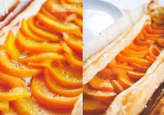 quick fresh peach puff pastry ... schneller frischer Pfirsich Kuchen mit Blätterteig