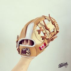 #Gloveworks Pro Steerhide glove for Levi - Proudly Canadian. Add your national flag, logo, your name, and your loved one's name on the glove. Make it real!   Pro Steerhide British Tan and Wheat Color combination.  Gloveworks is your custom baseball glove. Choose your leather, design, and many personalization options to build your one & only glove. Bring It Home!