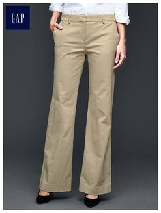 GAP stretch slim cropped trousers Red, stretch slim cropped pants ...