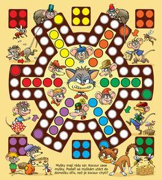Josef Pospíchal, autor, výtvarník a ilustrátor, cartoonist… Board Game Template, Printable Board Games, Fun Classroom Activities, Activities For Kids, Art For Kids, Crafts For Kids, Board Game Design, Board Games For Kids, Diy Games