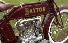 1914 Dayton Model 9 - 9 hp 1000cc V-Twin Motorcycle Manufactured by the Davis Sewing Machine Company of Dayton, Ohio from 1914 to 1918