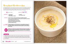 Cauliflower Soup -The Hungry Hottie Cookbook | The Hungry Hottie Cookbook