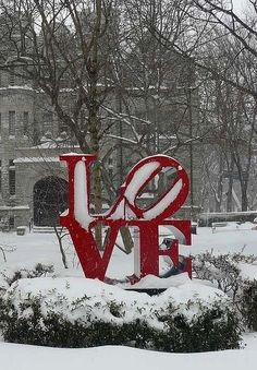 The LOVE statue in Philly