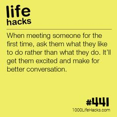 Have Better First Conversations