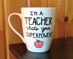 Teacher Coffee Mug I'm A Teacher What's Your by Hinzpirations