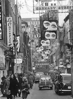 Carnaby Street, London, Christmas 1964.