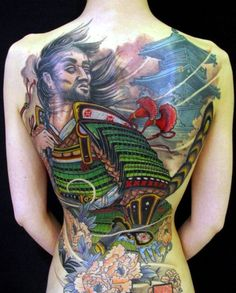 Samurai Armor tattoo.For more cool and amazing tattoos, visit www.tattooenigma.com.