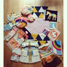 Tapestry & weaving Chaumière oiseau
