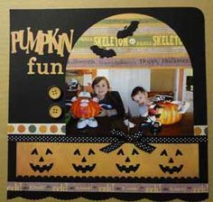 """""""Pumpkin Fun"""" Alphabet Article By: Stasia Sloma for Scrapbooking.com 2012 October issue"""