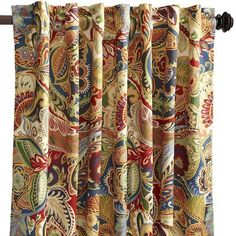 How would this be in the eat-in kitchen..red and yellow colors might go well with the kitchen??Vibrant Paisley Curtain - 84""