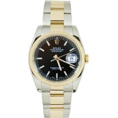 Rolex Mens New Style Heavy Band Stainless Steel & 18K Gold Datejust Model 116233 Oyster Band Fluted Bezel Black Stick Dial: http://watches.cybermarket24.com/rolex-mens-new-style-heavy-band-stainless-steel-18k-gold-datejust-model-116233-oyster-band-fluted-bezel-black-stick-dial/