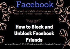 How to Block and Unblock Facebook Friends