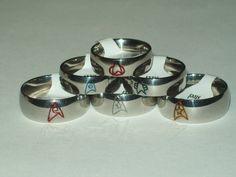 Star Trek Engraved Stainless Steel Comm Badge by SculptRenaissance