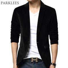 >> Click to Buy << New Black Blazer Men Autumn Winter Fashion Design Mens Slim Fit Blazer Jacket Brand Single Button Wedding Blazer Suit Jacket #Affiliate