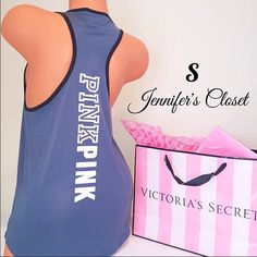 {Victoria Secret PINK} logo muscle tank ❌NO TRADES ❌NO HOLDS ❌NO PP ✮ITEMS ARE 100% AUTHENTIC   ✮PLEASE DO NOT RATE ME BASED UPON FIT/SIZE OF YOUR ITEM. ASK FOR MEASUREMENTS OR PURCHASE AT YOUR OWN RISK✮ PINK Victoria's Secret Tops Muscle Tees