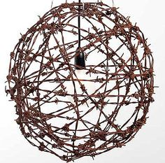 Barbed Wire Light Fixtures Balls | Love .... Great Balls of Wire