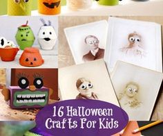 16 easy Halloween Crafts For Kids. enjoy ! :)  Check out --> http://wonderfuldiy.com/wonderful-16-halloween-crafts-for-kids/