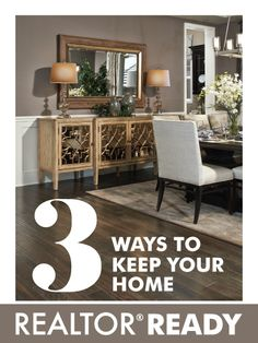 Good tips for clients! | 3 Ways to Keep Your Home REALTOR® Ready | Richmond American blog (http://www.richmondamerican.com/blog/3-ways-to-keep-your-home-realtor-ready/)