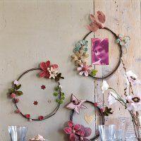Des cadres en fil de fer fleuri - Marie Claire Idées