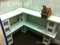 white cinder block shelves - Google Search