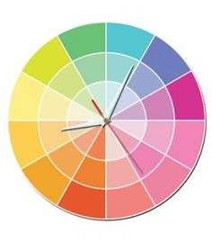 sonodesign: a colourwheel clock - see you at custard past sky-blue by yvonne