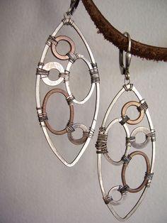 Industrial Evolution Industrial Earrings by dnajewelrydesigns, $55.00