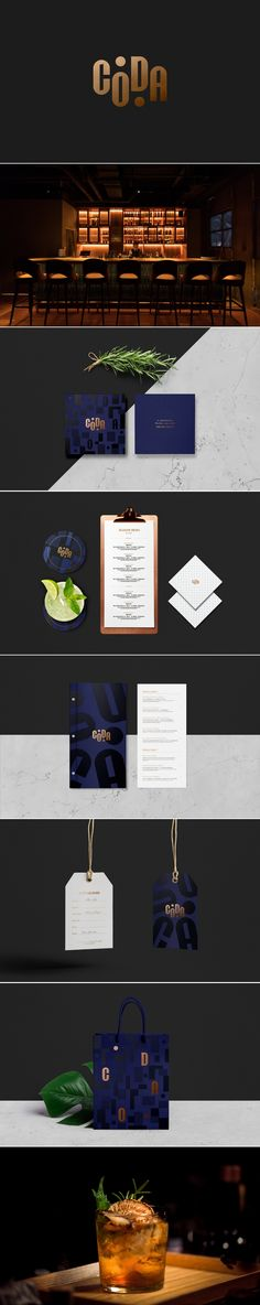 Coda Bar Branding and Menu Design by Xianwen Wei | Fivestar Branding Agency – Design and Branding Agency & Curated Inspiration Gallery  #bar #barbranding #menudesign #branding #branddesign #brandingdesign #brandinginspiration #coaster #behance #pinterest #dribbble #fivestarbranding