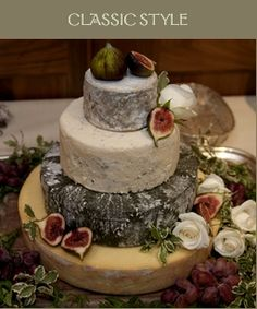 Wedding cake made of cheese!  I'd totally do this if I were getting married.
