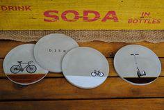 Concrete Coasters Bike Wedding Gift Gift for Him Husband