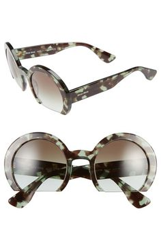 Miu Miu 52mm Flat Bottom Sunglasses available at #Nordstrom