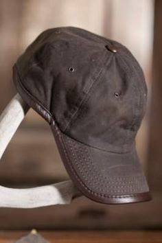 Oil Cloth & Leather Baseball Cap By Overland Sheepskin Co, http://www.overland.com/Products/Accessories-474/Hats-702/MensHats-511/OilClothLeatherBaseballCap/PID-78109.aspx