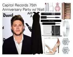 """Capitol Records 75th Anniversary Party w/ Niall"" by dimondz23 ❤ liked on Polyvore featuring MaxMara, Steve Madden, Akris, Belk Silverworks, Christian Dior, Urban Decay and Essie"