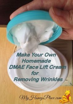 How To Make Your Own Wrinkle Removing Cream with DMAE #homemadewrinklecreamshowtomake